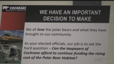 WATCH: Public information sessions held in Cochrane about the cost to run the Polar Bear Habitat and how to pay for it. Lydia Chubak reports.