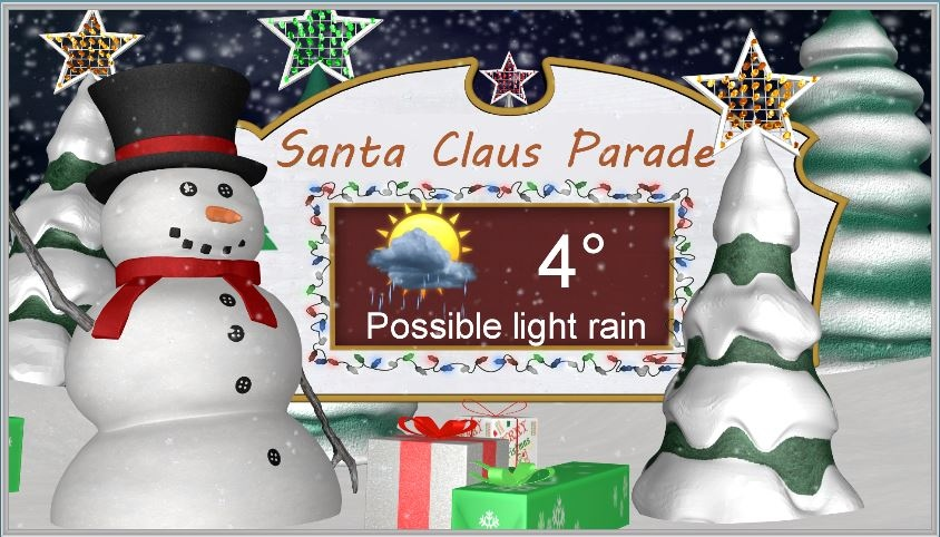 Santa Claus Parade forecast