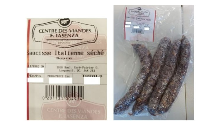 Dried sausages recalled from Longueuil butcher