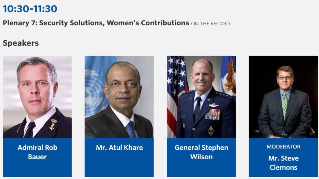 After backlash, security forum adds women to all-male panel on 'women's contributions'