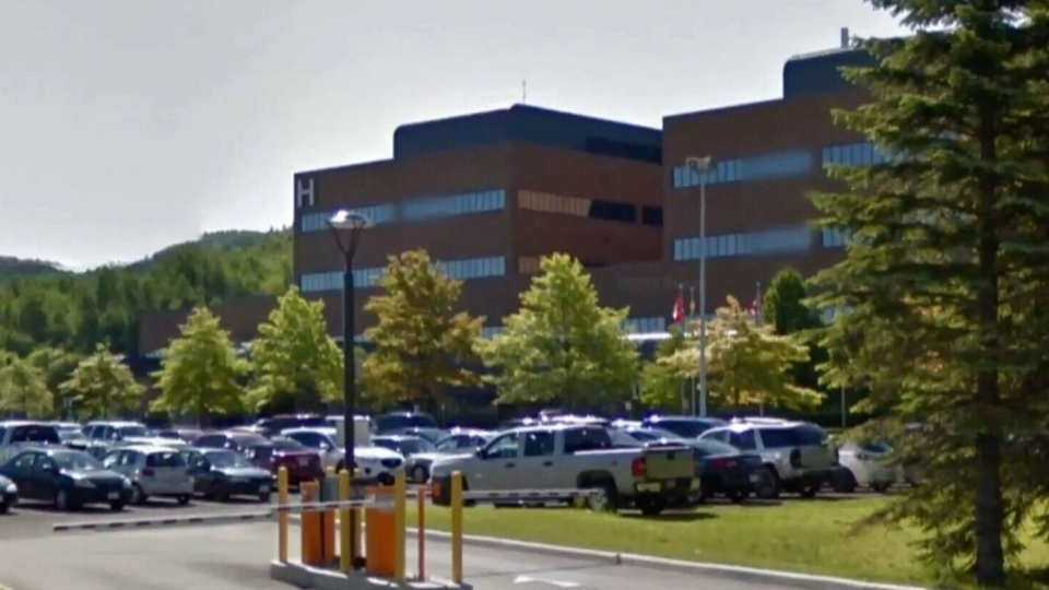 Campbellton Regional Hospital, seen here, is diverting patients due to a shortage of beds and understaffing.
