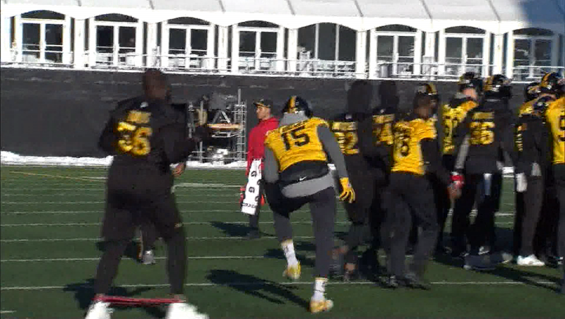 The Tiger Cats are loose ahead of the Grey Cup game Sunday. They're slight favourites to win.