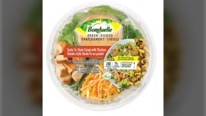 Bonduelle Santa Fe Style Salad with Chicken is pictured in this file photo. (CFIA)