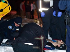 Mark Aaron Pauls, 24, was shot in the legs by a Kelowna RCMP member after allegedly pepper-spraying the officer. (CTV)
