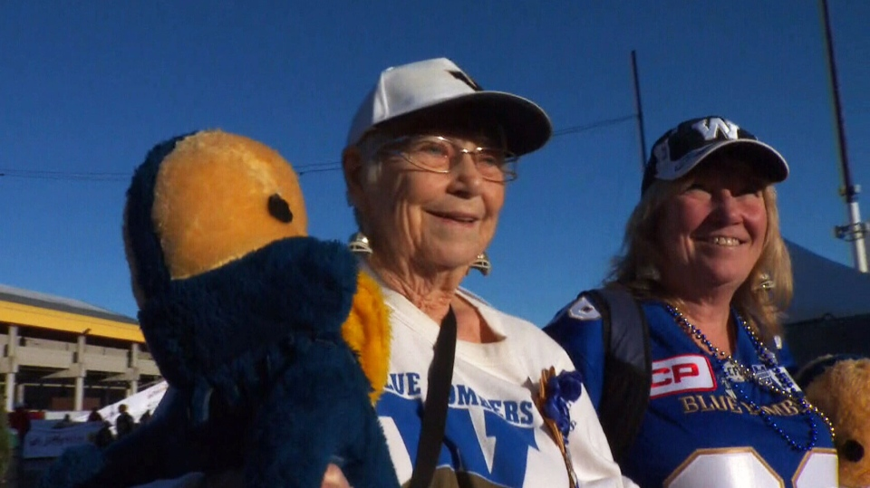 90-year-old Bombers superfan Grey Cup