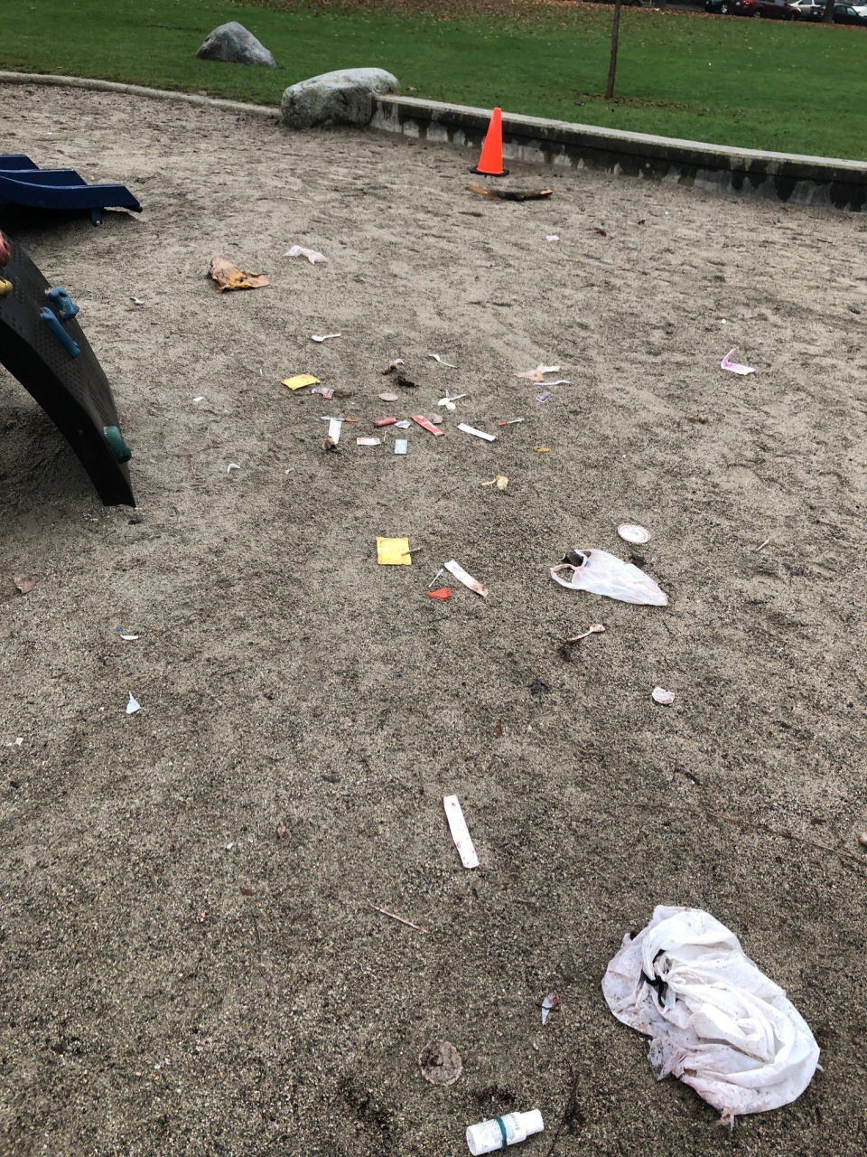 Used needles found in Vancouver playground
