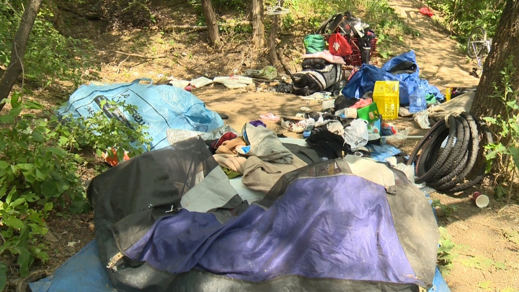 Homeless camp (file image)
