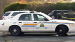 A Surrey RCMP cruiser is pictured at the scene of a homicide in Surrey, B.C., on Friday, Nov. 22, 2019.