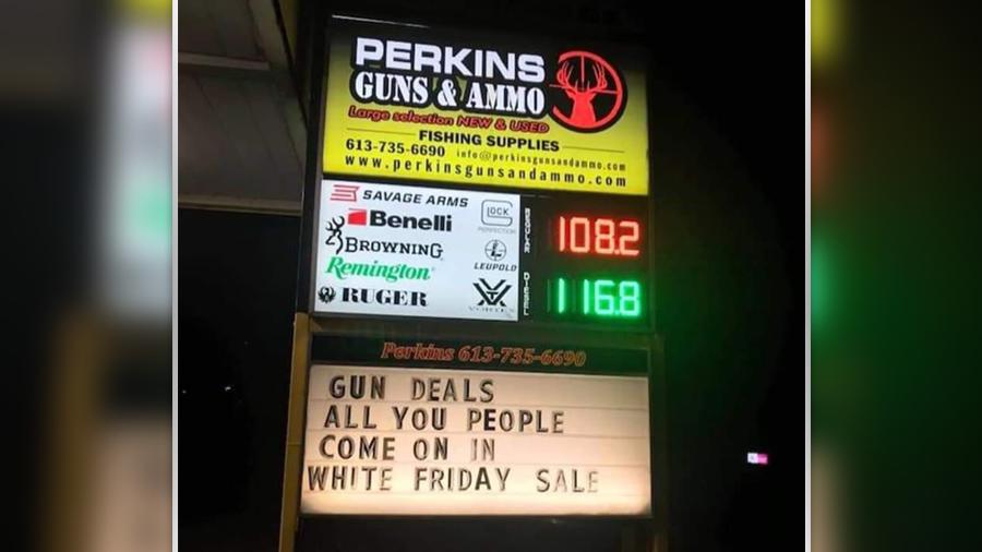 'White Friday' gun store sale in Pembroke