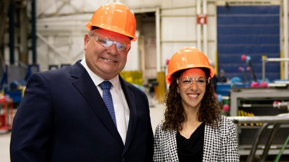 Belinda Karahalios is seen in this undated photograph with Ontario Premier Doug Ford. (belindakarahalios.ca)
