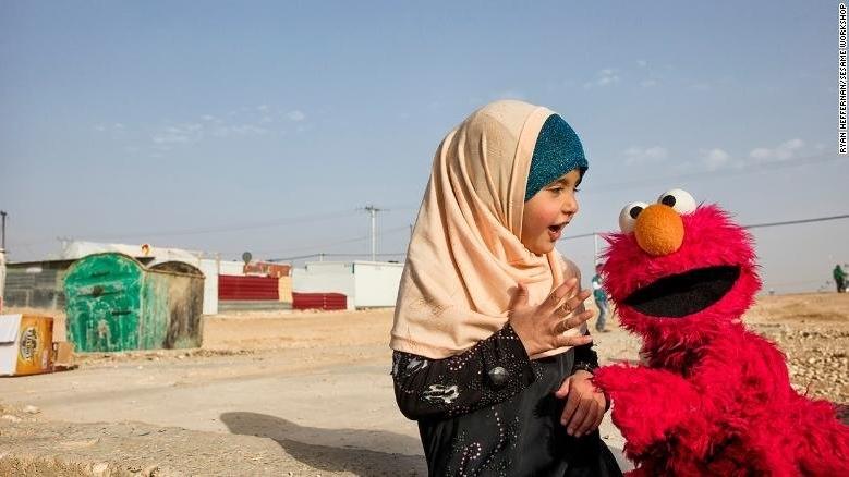 Syrian Girl with Elmo