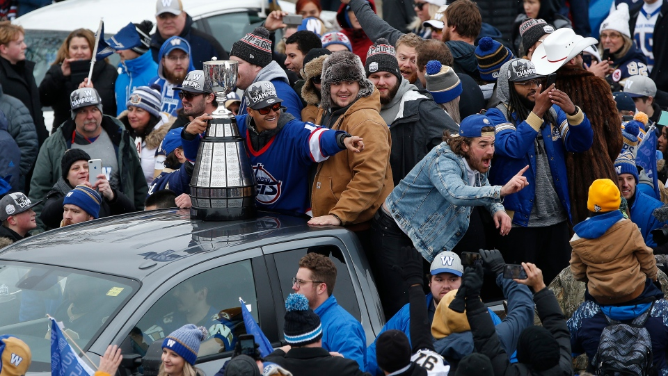 Blue bombers parade