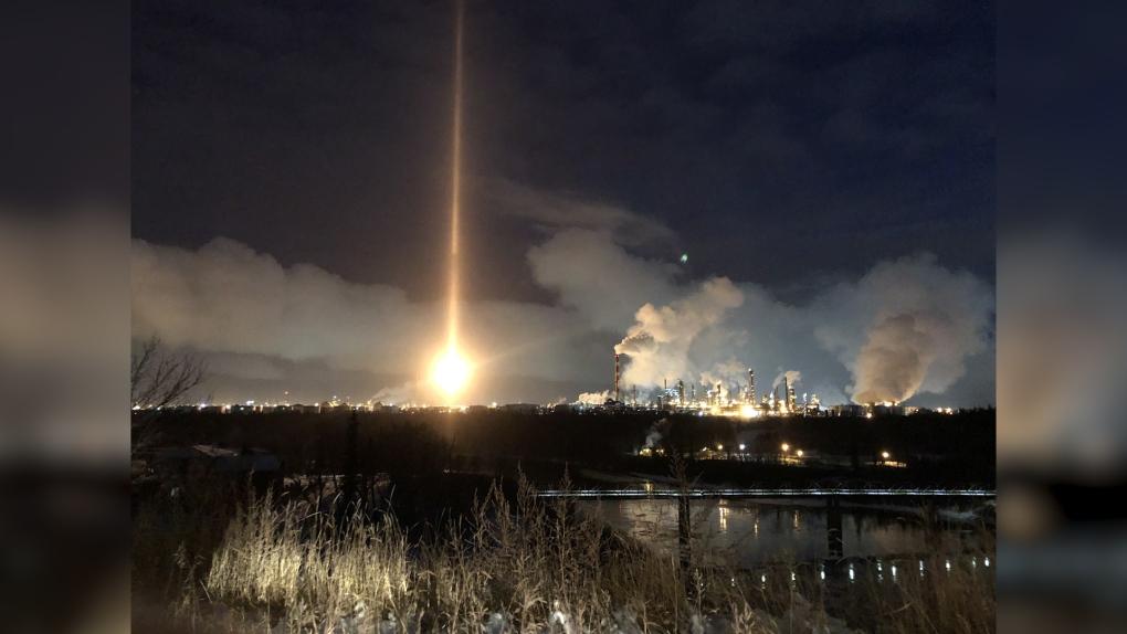 Pillar of light in Edmonton