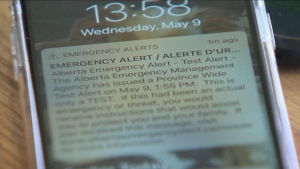 The Government of Alberta opted-out of the Nov. 25 testing of the national public alerting system, stating it has full confidence in the provincial system (file)