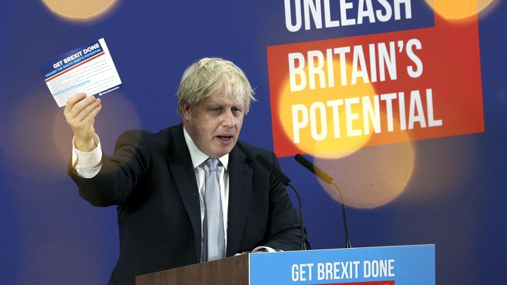 Boris Johnson delivers a speech