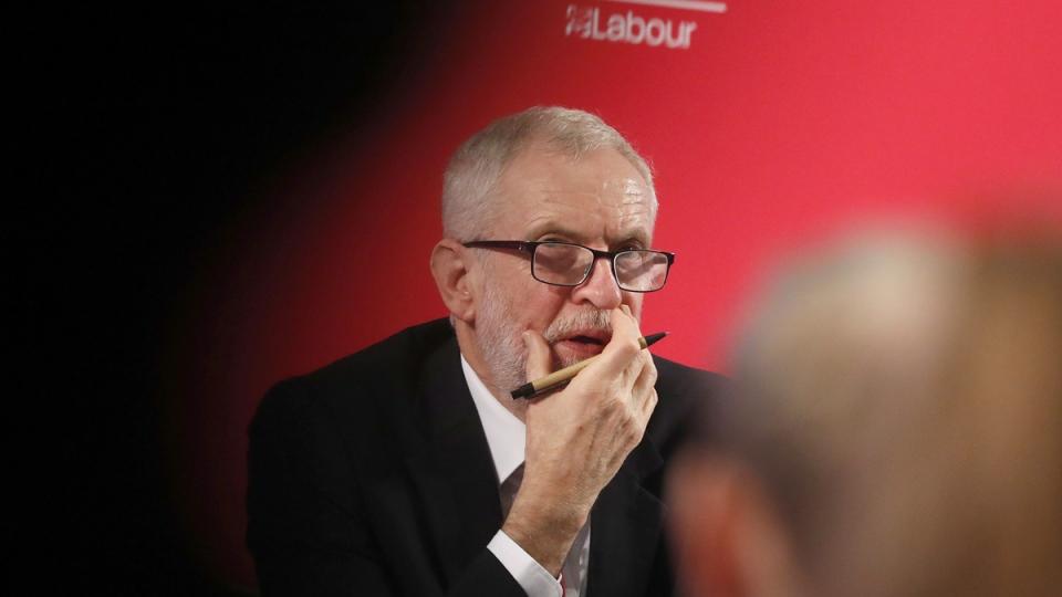 Britain's Labour party leader Jeremy Corbyn