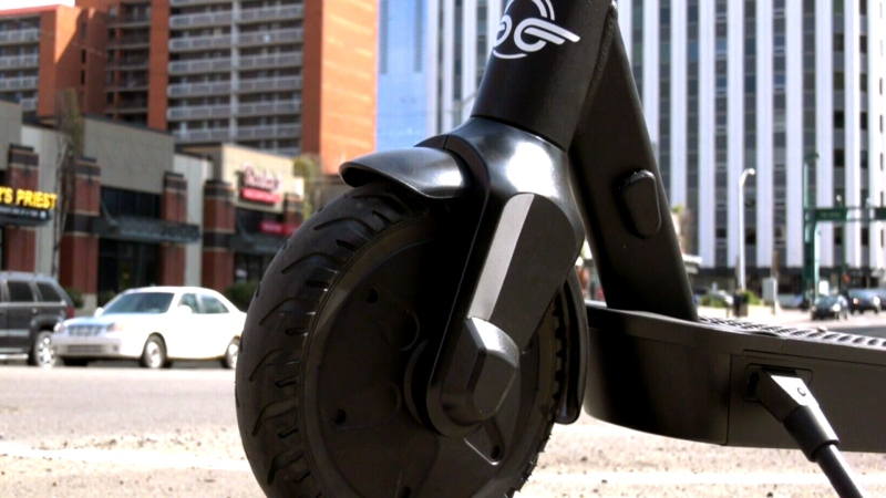 An e-scooter is seen in this undated file image. (CTV News)