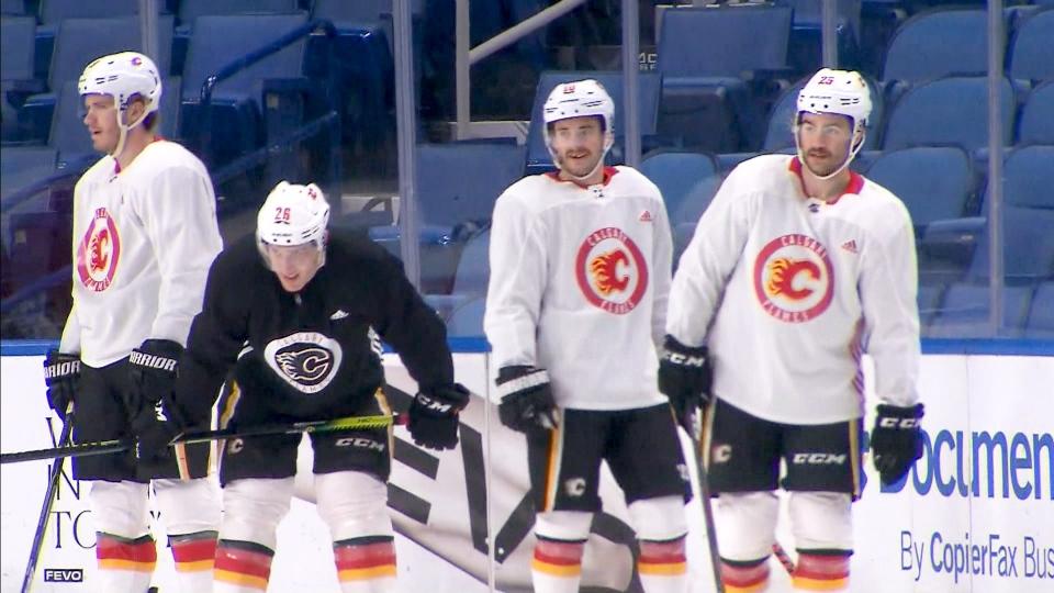 Calgary Flames practice