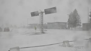 Northern Ontario winter storm