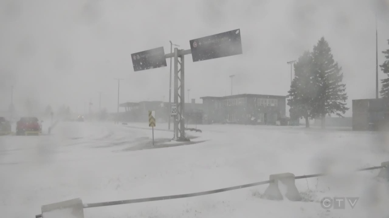 Northern Ontario winter storm
