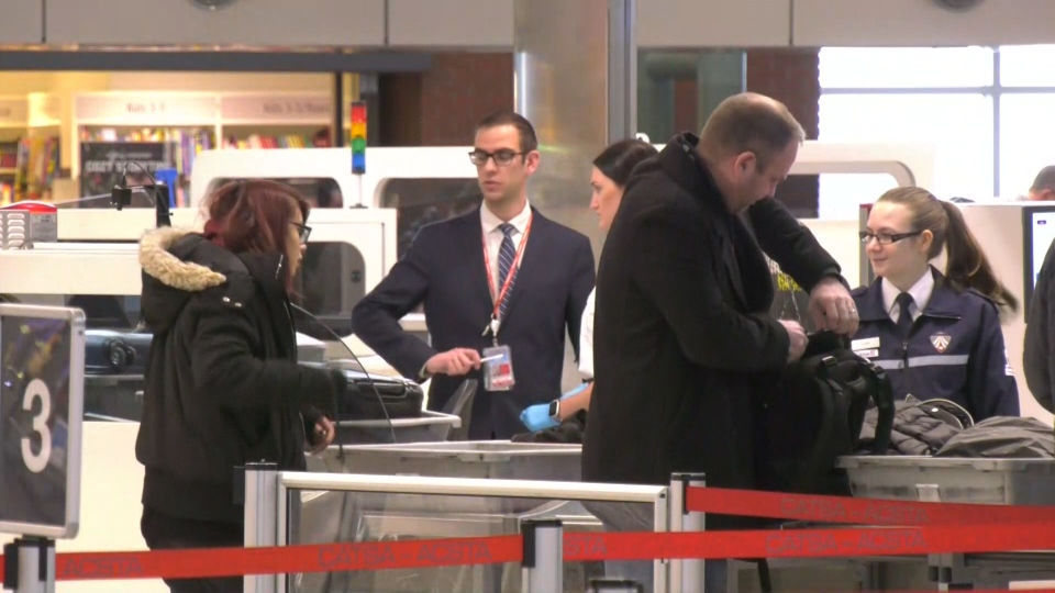 The Edmonton International Airport unveiled its improved security screening area on Wednesday, Nov. 27, 2019. (CTV News Edmonton)
