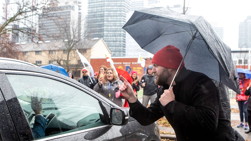Protest, Stephen Lecce