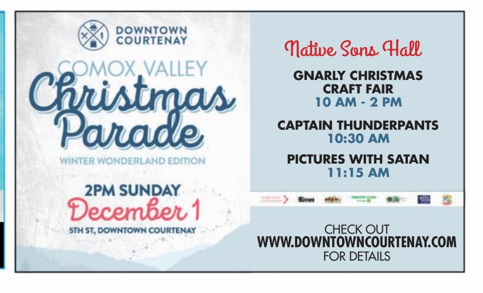 An advertisement in the Nov. 21 edition of the Comox Valley Record was intending to invite members of the public to a Downtown Courtenay Christmas event where they could have their photos taken with Santa.