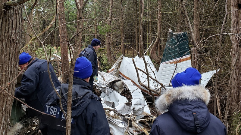 The Transportation Safety Board of Canada says that seven people were killed after a plane crashed in Kingston, Ont. (Twitter/@TSBCanada)