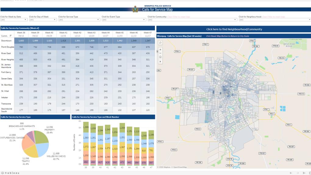 Winnipeg police launch map tracking service calls