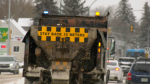 A City of Saskatoon sanding truck deployed to help clear streets on Nov. 29, 2019.
