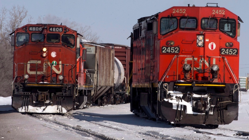 "Canadian National Railway Co. says propane shortages in Central and Eastern Canada are ""being addressed"" as it strives to ramp up service following an eight-day strike, but gas and grain producers are demanding priority treatment that may not come. (File/THE CANADIAN PRESS/Ryan Remiorz)"