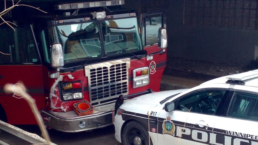 Stolen firetruck spotted driving in Winnipeg