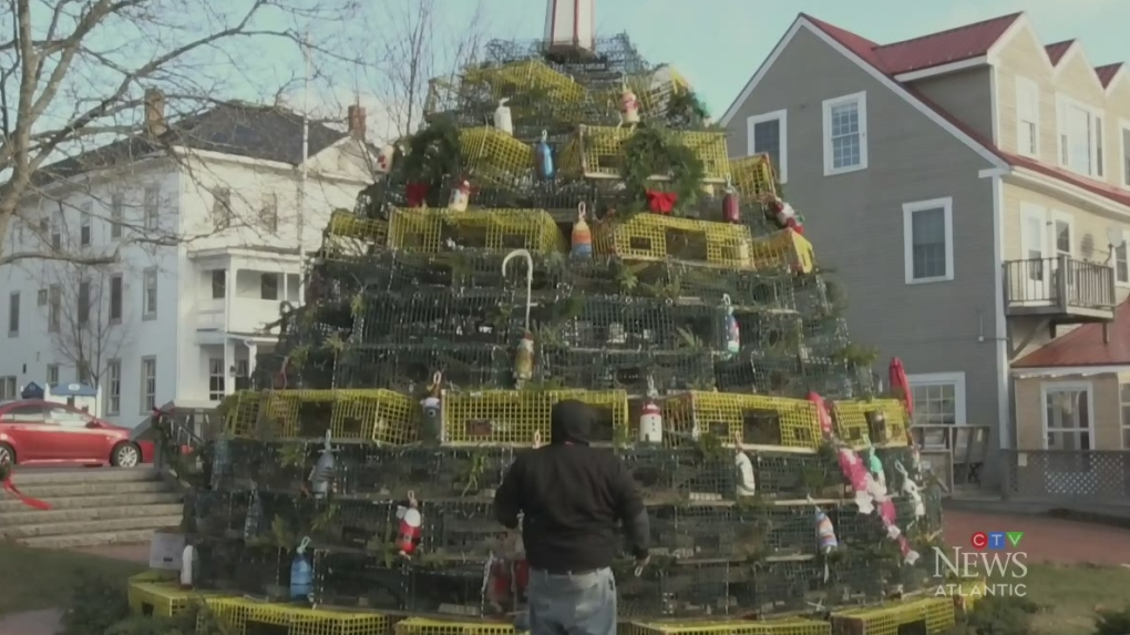 Lobster trap tree in St. Andrews, N.B., captures community's holiday spirit