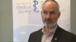 Dr. Chirs Goodyear is president of the New Brunswick Medical Society. He wants to remind people that COVID-19 spreads through contact and droplets, which is why physical-distancing is so important.