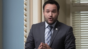 "Quebec Minister of Families Mathieu Lacombe intends to convert some unsubsidized private daycares into subsidized institutions to ""clean up"" a network that he said was grown out of control, Nov. 30, 2019. THE CANADIAN PRESS/Jacques Boissinot"