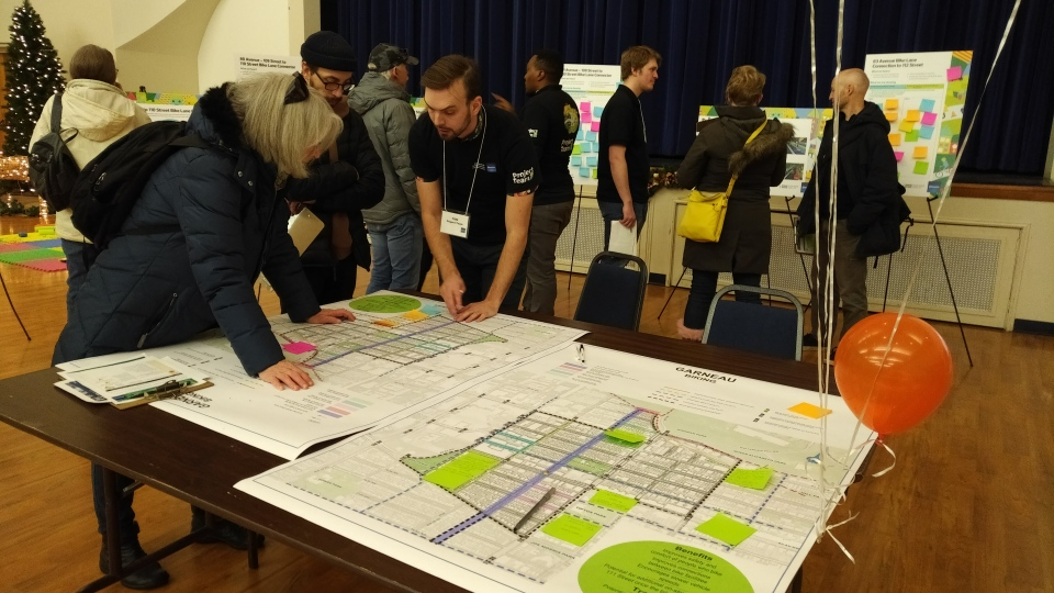 Garneau residents were shown early design plans on Nov. 30, 2019, for renewal work scheduled to start in 2021 in their neighbourhood.