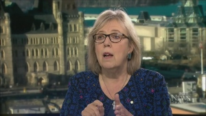 Green Party parliamentary leader Elizabeth May,