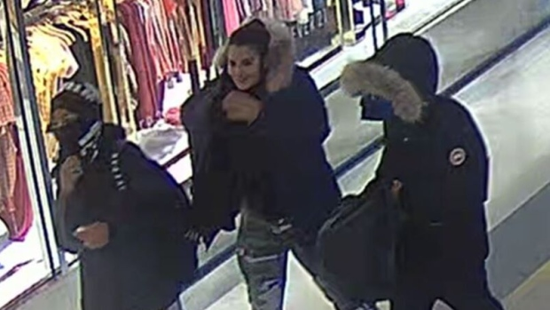 Three men, one woman sought in connection to Scarborough Town Centre robberies