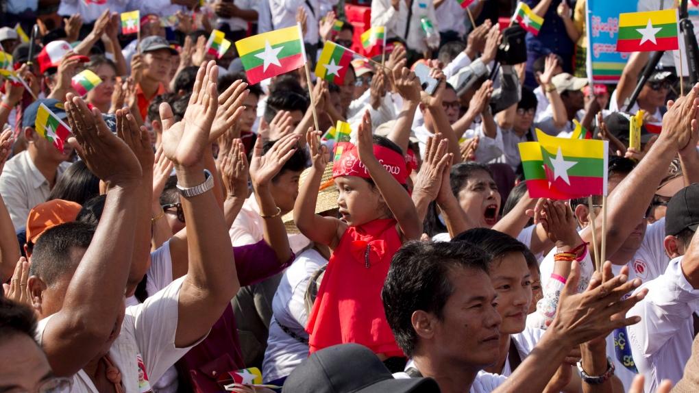 myanmar rally