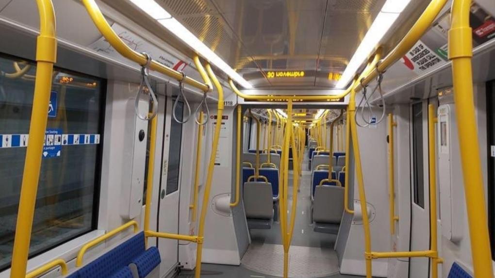 Strap hangers on LRT