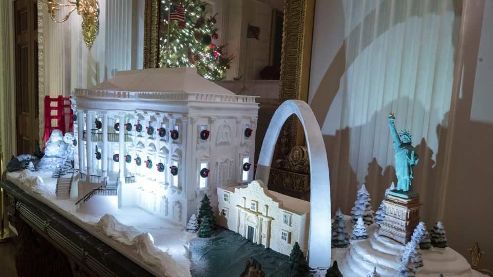 A White House made of gingerbread