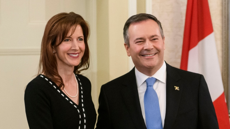 Tanya Fir, Minister of Economic Development, Trade and Tourism, is sworn in at Government House in Edmonton on Tuesday, April 30, 2019. (Photo by Alberta Government)