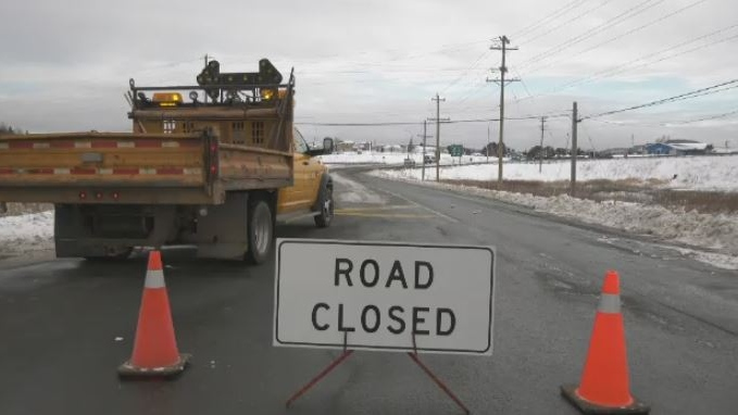 Highway 4 in the Antigonish, N.S., area was closed to traffic after a serious collision on Dec. 2, 2019.