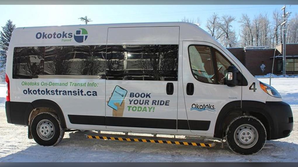 Okotoks Transit, shuttle, service,