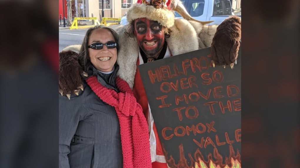 Courtenay man attends Christmas parade dressed as Satan after 'Santa' typo