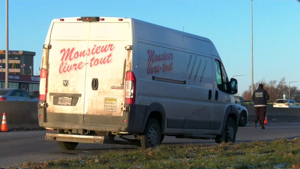 The victim is a delivery driver from Monsieur Livre-Tout, a Saint-Jean-sur-Richelieu company. (Photo: CTV News Montreal)