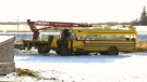 3 in critical state after bus crash with students