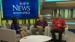 """Maralee talks with Mike Payne and Jim Kane from nine circles Community Health Centre about the """"Grumbling epidemic"""" of Aids in Manitoba"""