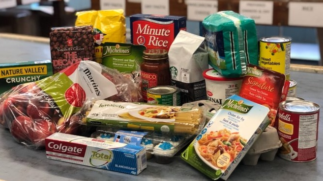 Health hamper food bank