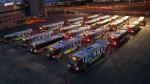 Buses idling in case LRT breaks down